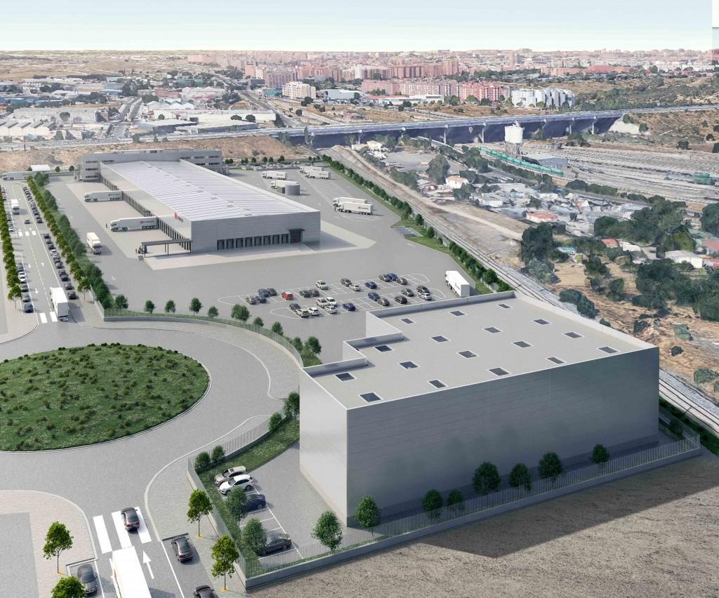 Vista general de la plataforma logística del parque industrial. Copyright: DB Schenker.