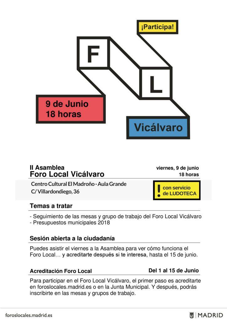 Foro Local de Vicálvaro programa
