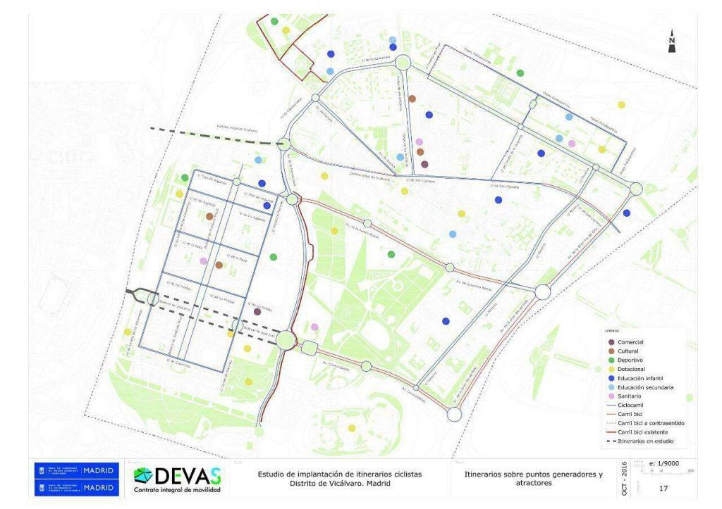 mapa itinerarios ciclistas
