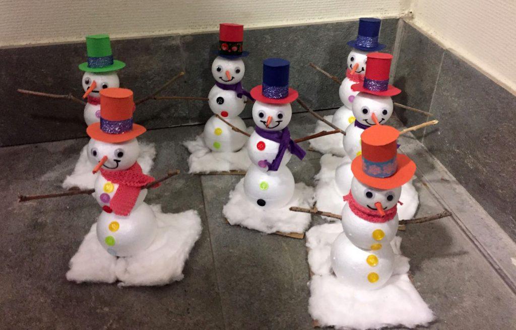 muñecos nieve Navidad 2017